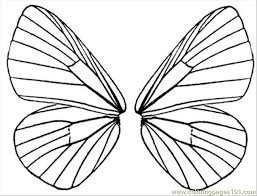 fairy wings color free printable coloring butterfly