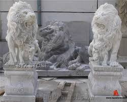 marble lion white marble lion sculpture garden lion statue from china
