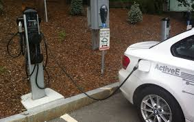 electric cars charging bmw invests in chargepoint electric car charging service
