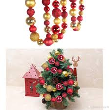 christmas decorative balls string with golden u0026red balls