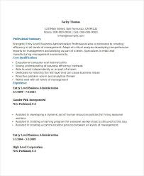 Human Resource Entry Level Resume 22 Business Resume Templates Free Word Pdf Documents Download