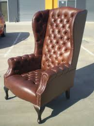 Wingback Chairs Leather High Back Wing Chair With Ottoman Home Chair Decoration