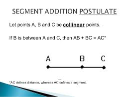 Segment Addition Postulate Worksheet 1 2 Segment Addition Postulate