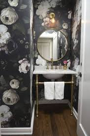 wallpaper bathroom designs best 25 black powder room ideas on black bathroom