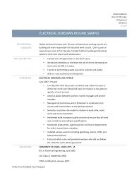 Resume Sample Electrical Engineer by Electrical Supervisor Resume Sample Free Resume Example And