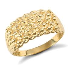 mens golden rings images Men 39 s solid 9ct yellow gold 5 row keeper rope edge ring jpg