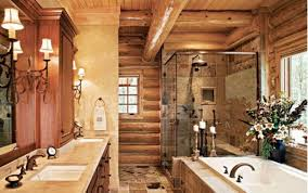 bathroom comfortable rustic bathroom decor with brown textued