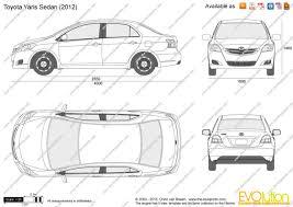 Yaris Sedan 2008 The Blueprints Com Vector Drawing Toyota Yaris Sedan