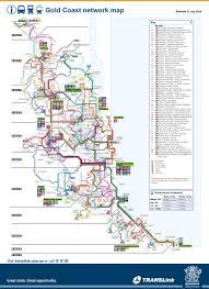Melbourne Tram Map Gold Coast Bus Train And Tram Map
