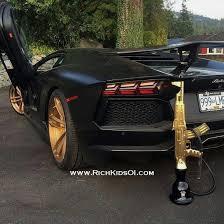 black and gold lamborghini black and golden lamborghini aventador and gold ak 74 kalashnikov