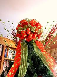 christmas tree bow topper bow christmas tree topper in your choice of ribbon tree