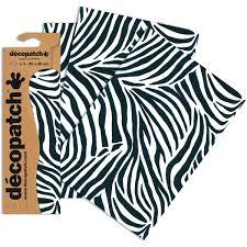 decopatch zebra print paper 3 sheets hobbycraft