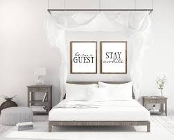 guest bedroom decor guest room decor be our guest sign guest room art stay