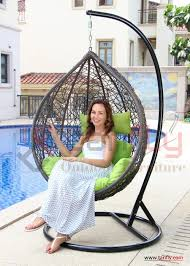 Two Person Swing Chair Two Person Outdoor Indoor Garden Rattan Double Swing Hanging