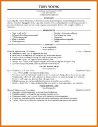 Resume Technician Maintenance Maintenance Resume Example Warehouse Associate Resume Sample