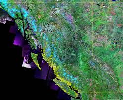 Map Of British Columbia Canada by British Columbia Map U0026 Satellite Image Roads Lakes Rivers Cities