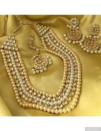 long pearl necklace set images Kundan and pearls 5 layered necklace set jpg
