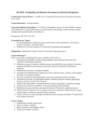 official course outline department of electrical engineering