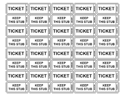 raffle tickets with numbers random pinterest printable