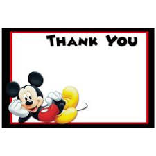 mickey mouse thank you cards printable mickey mouse thank you cardskitty baby