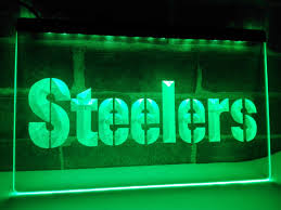 la145 pittsburgh steelers logo bar led neon light sign home decor