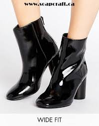 s heeled boots canada black shoes look patent heeled ankle boot look