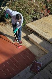 5 Expert Tips For Staining A Deck Consumer Reports by Thompson U0027s Waterseal Waterproofing Stain Bob Vila