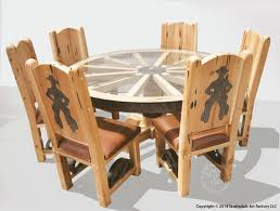 Western Style Dining Room Sets Manificent Decoration Western Dining Table Wonderful Wagon Wheel