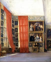 the long gallery hardwick hall derbyshire 1811 david cox