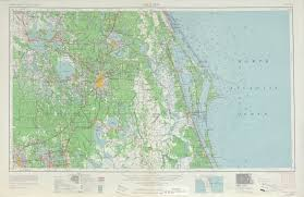Map Of Orlando by Orlando Topographic Map Sheet United States 1962 Full Size