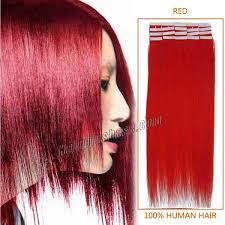 Hair Extensions Tape by Inch Red Tape In Human Hair Extensions 20pcs