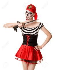halloween pirate makeup halloween costume woman pirate with a sword creative make up
