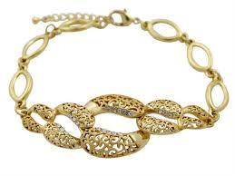 Buy Designer Gold Plated Golden Buy Golden Essentials 22k Gold Plated Modern Maze Design Bracelet