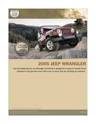 chrysler 2005 wrangler jeep sales brochure