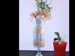 Flowers Home Decoration by Shabby Chic Vintage Modern Glass Candle Holder Burlap Flower Home