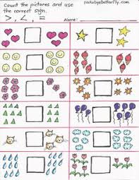 greater than less than worksheet for kindergarten new greater than less than printables by