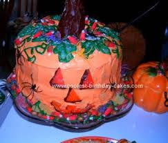 coolest halloween jack o lantern cake