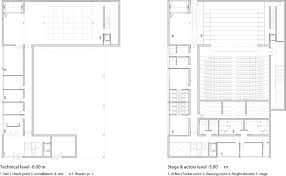 theatre floor plan gallery of municipal theater at arahal javier terrados estudio