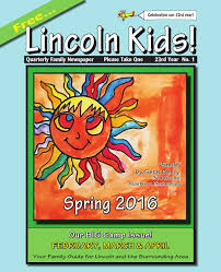 lincoln kids newspaper spring 2016 by lincoln kids newspaper issuu