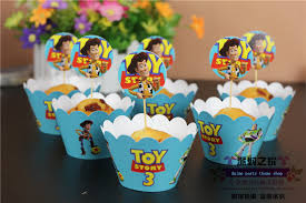 Cake Decorations Store 120 Lot Toy Story 3 Party Supplies Favors Cupcake Wrappers Cup