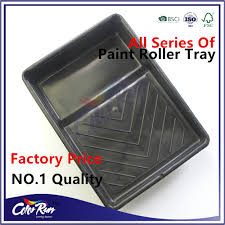 colorrun bestselling high quality black plastic paint roller tray