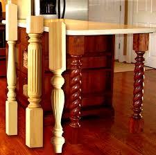 wood kitchen island legs kitchen island legs wood pedestal bases in design