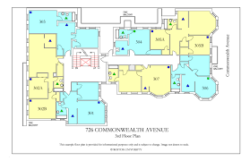 North Park Residences Floor Plan 726 Commonwealth Avenue Housing Boston University