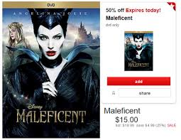 maleficent on dvd only 7 50 at target today only mylitter one