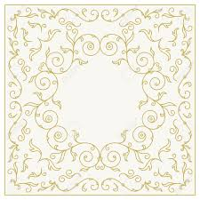 frame for wedding invitation card template with floral ornaments