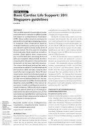 basic cardiac life support 2011 singapore guidelines pdf