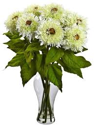 artificial flower arrangements sunflower vase arrangement in white contemporary artificial