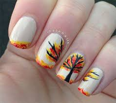 top 15 thanksgiving autumn tree nails u2013 best new simple home