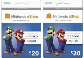 eshop gift cards free 40 nintendo 20 x 2 eshop gift cards for nintendo 3ds