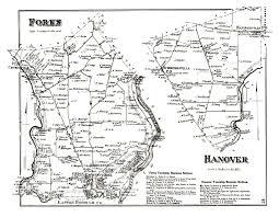 Easton Map Northampton County Pennsylvania Atlas 1874